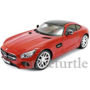 Maisto-Mercedes-Benz-AMG-GT-1-18-Diecast-Modelo-Edicion-Exclusiva-De-Coche-38131-Rojo