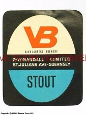 1960s England Guernsey Randall's VB Stout Beer label Tavern Trove