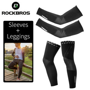 ROCKBROS-Cycling-Fleece-Warm-Arm-Sleeves-amp-Leg-Covers-Breathable-Sports-Fitness