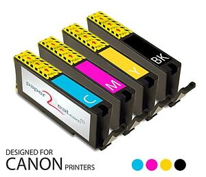 Set of 4 x Refillable Edible Ink Cartridges for Canon iP8720 CLI-251 Series