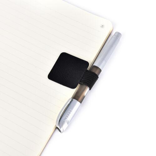 Selbstklebende PU-Leder-Bleistifte Clip Pen Traveler Notebook Tagebuch ZP.