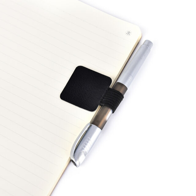 Self-adhesive PU Leather Pen Holder Clip Pen Traveler Notebook Diary Fittings Rn