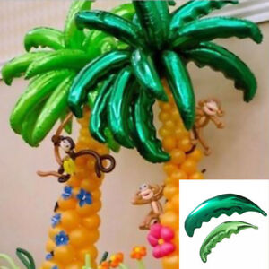 10× Tropical Palm Tree Leaf Balloon for Hawaiian Beach Party Venue Home Decor