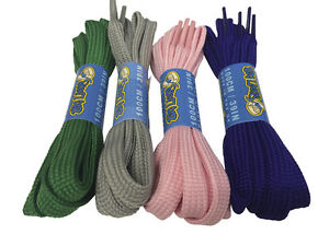 FLAT STRONG SHOELACES BOOTLACES - 6 LENGTHS - 3 COLOURS - FREE UK P&P!