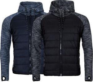 Geographical-Norway-Hommes-Sweatjacke-Sweatshirt-Veste-Transition-Veste-matelasse-Mix