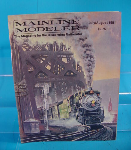 MAINLINE MODELER MAGAZINE JULY//AUGUST 1981 ALCO RSD4,RSD5 SP C-15 2-8-0 DB GON