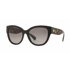 Óculos De Sol Feminino VERSACE Conjunto Fashion Preto Retângulo Ouro ... 68a4366130