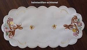 PLAUENER SPITZE ® Tischdeckchen OSTERN Tischdecke KÜKEN Osterdeckchen Deckchen