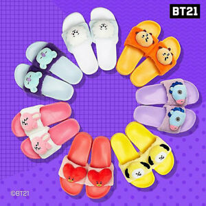 BTS-BT21-Official-Authentic-Goods-Limited-Plush-Slipper-220-250mm-7Characters