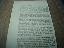 ephemera 1957 kalamazoo men's hockey terry kingswell dick thomas