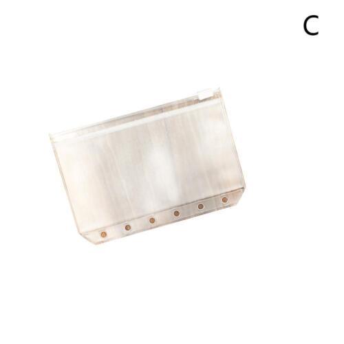 5 Stk A5//A6//A7 Transparent.Zip Lock Umschlag Binder Pocket Refill *