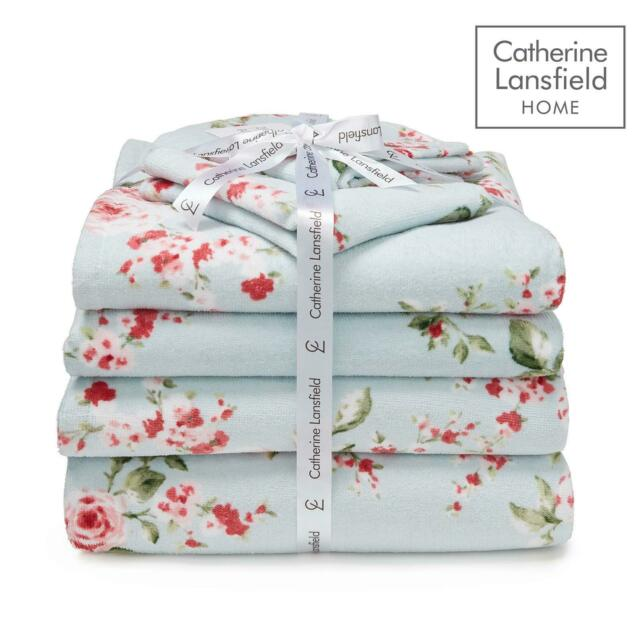 Catherine Lansfield Canterbury 6 Piece Towel Bale Duck Egg Bathroom Towels Set