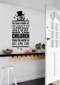 Frosty-Snowman-Christmas-Vinyl-Decal-Wall-Stickers-Lettering-Subway-Art-Words