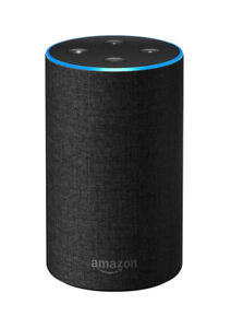 Amazon Echo (2nd Generation) Smart Assistant With Alexa  - Charcoal Fabric