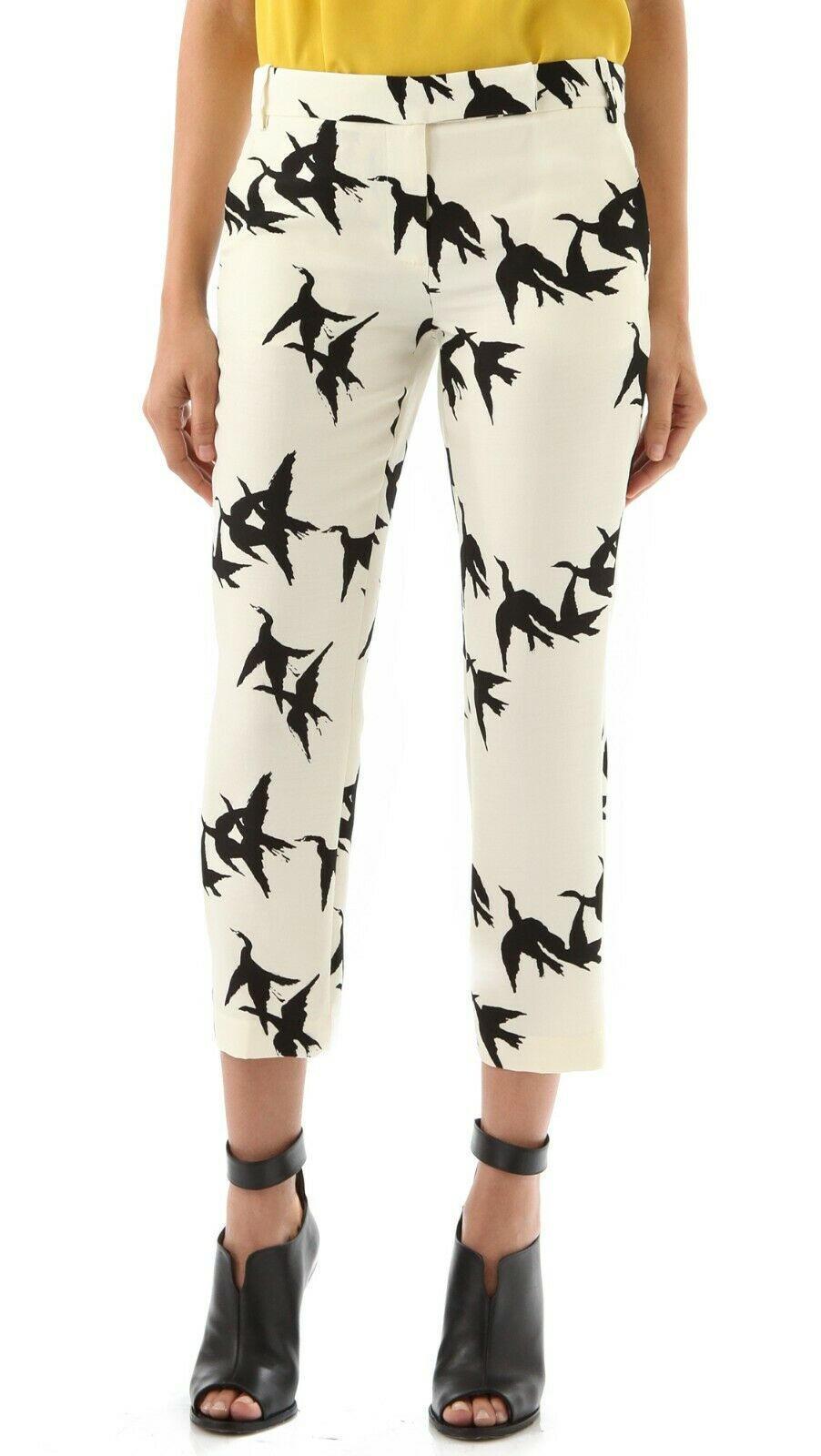 TIBI Paloma Swallow Print Silk Pants 0