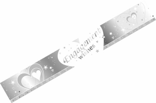 9ft Silver /& White Wedding Engagement Party Anniversary Banner Decoration