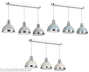 3 Pendant Ceiling Light: 3-WAY-BAR-PENDANT-LIGHT-HANGING-CHROME-LOOK-,Lighting