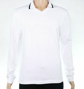 American-Apparel-Mens-Shirt-White-Size-Medium-M-Polo-Long-Sleeve-Tipped-42-177