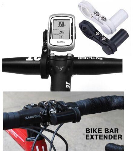 Bike Black handle bar extender L handlebar mount bracket stand holder phone GPS