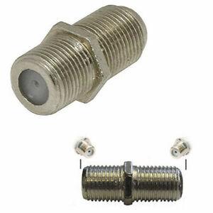 Menuisier-Baril-Connecteur-F-Type-Plug-Coupleur-Adaptateur-Sky-HD-TV-Twin-RG6-Coaxial-SAT