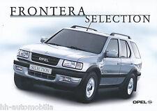 Opel Frontera Selection Prospekt 11/00 brochure Autoprospekt Auto PKWs 2000