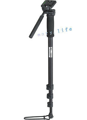 """70""""WF-1005 PHOTO CAMERA CAMCORDER tripod MONOPOD WITH FOOT STAND AND PAN HEAD"""