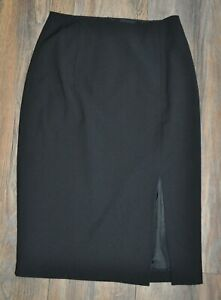 Austin Reed Signature Black Pencil Skirt Size Uk 8 7 Wool Ebay