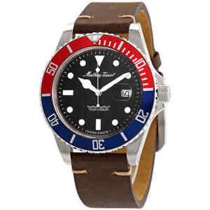 Mathey-Tissot-Mathey-Vintage-Quartz-Black-Dial-Men-039-s-Watch-H9010ALR