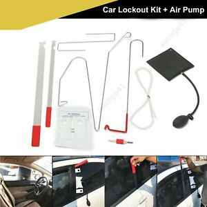 Details about 10pcs Car Door Key Lost Lock Out Emergency Door Unlock Open  Tools + Air Pump