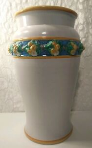 "Dolfi for Cottura Large Outdoor Pottery Vase Planter 21"" Tall Vintage RARE Glaze"