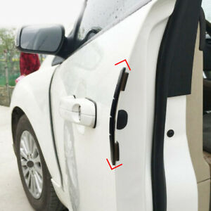 4x Car Rubber Door Edge Guard Bumper Corner Protector Anti-collision Strip Black