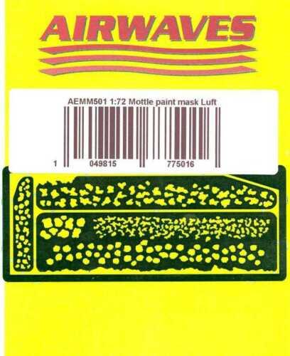 Airwaves 1//72 LUFTWAFFE FIGHTER MOTTLE CAMOUFLAGE MASK
