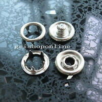 "25 Sets 3/8"" Open Ring No Sew Snap Fastener press studs poper 9.5mm Nickel Free"