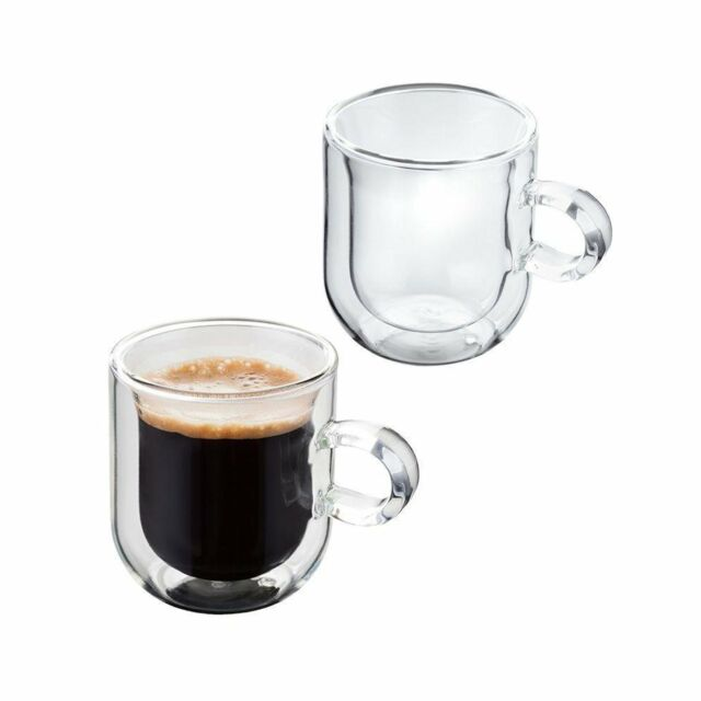 Merveilleux Judge Hand Crafted Double Walled Set Of 2 75ml Glass Coffee Espresso Cup