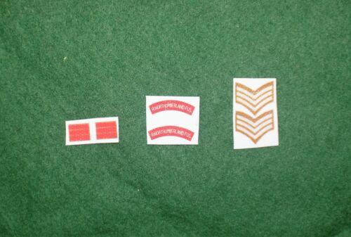 1//6 WW2 di British Royal Northumberland Fusliers titoli spalla patch set lotto