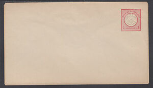 Germany Mi U3IA mint 1872 1gr Envelope, flap embossing 3.5mm above edge