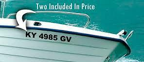 """BOAT REGISTRATION DECALS $12.99CAN 16 3/""""LICENSE NUMBERS /& LETTERS FAST SHIP !"""
