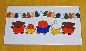 039-WITH-LOVE-FROM-MIFFY-039-POSTCARD-MIFFY-amp-HER-FRIENDS-1992-DESIGN-DICK-BRUNA