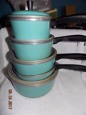 Vintage CLUB Aluminum Turquoise 9-pc. Cookware Dutch Oven Pans Skillet