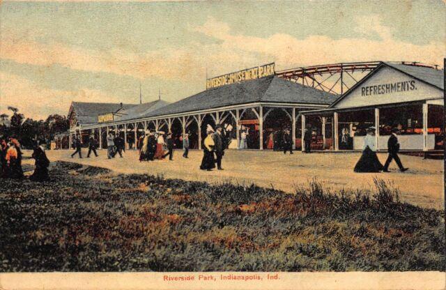 Postcard Riverside Amusement Park in Indianapolis, Indiana~124179