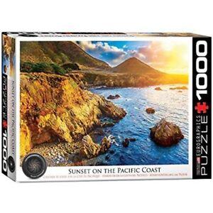 Eurographics-Puzzle-1000-pieces-Coucher-de-soleil-sur-le-Pacifique-Cote