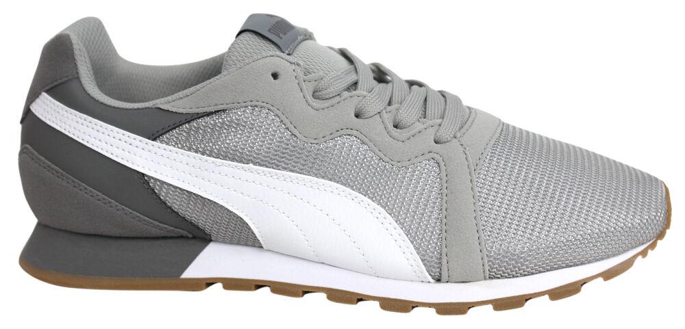 Puma Pacer grau weiß Herren Schnürschuhe Joggen Sport Turnschuhe 361182 04 U89