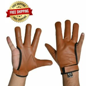 4 Finger Archery Glove Right Hand- Hunting Gloves All Sizes And In 4 colors
