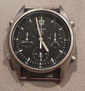Vintage-Seiko-7A28-7120-Chronograph-Military-RAF-1988-Quartz-Japan-Gen1