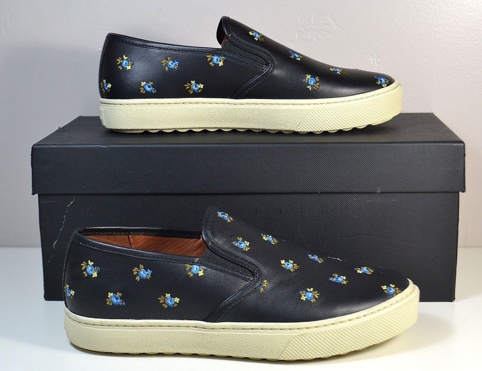 Plumín ENTRENADOR ENTRENADOR ENTRENADOR Prairie Floral Negro De Cuero Sin Cordones Tenis Zapatos Talla 6-11 C115  en linea