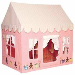 pink gingerbread cottage children 39 s playhouse play tent by win green girl ebay. Black Bedroom Furniture Sets. Home Design Ideas