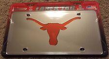 Rico UT Texas Longhorns Silver/Orange Laser Tag License Plate