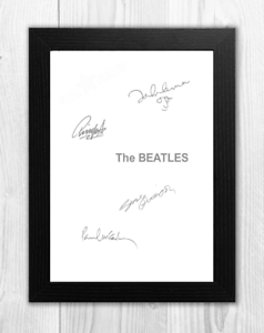 The-Beatles-White-Album-A4-signed-photograph-poster-Choice-of-frame