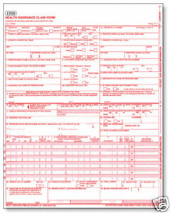 cms hcfa 1500 health insurance claim forms 25 sheets 08 05