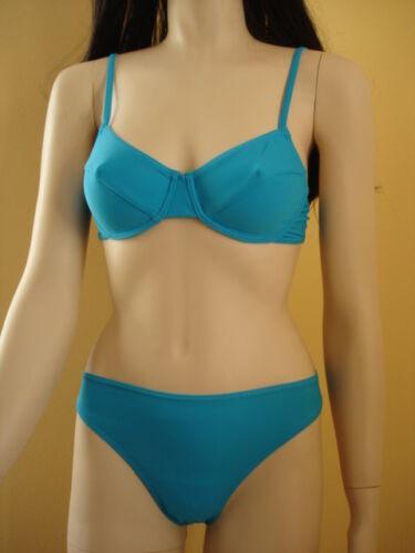 Bikini turchese Lycra 36 B nella sua confezione originale nuovo!